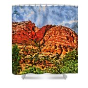 Colors Of Zion Shower Curtain