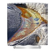 Colors On Rock Shower Curtain