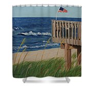 Colors On The Breeze Shower Curtain