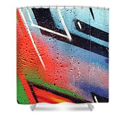 Colors On The Wall Shower Curtain