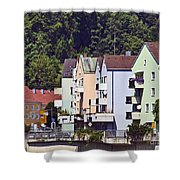 Colorul Houses In Germany Shower Curtain