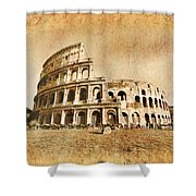 Colosseum Grunge Shower Curtain