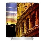 Colosseum Sunset Shower Curtain