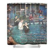 Colossians 2 12 Shower Curtain