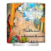 Colossians 3 2 Spanish Shower Curtain