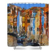 Coloured Houses On Burano Shower Curtain