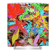 Coloured Leaves By M.l.d. Moerings  2009 Shower Curtain
