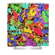 Coloured Oak Leaves By M.l.d. Moerings 2009 Shower Curtain