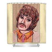 Coloured Pencil Portrait Shower Curtain