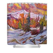 Coloured Winter Shower Curtain