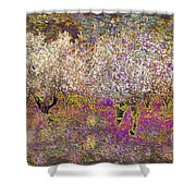 Colourful Almond Trees Shower Curtain
