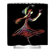 Colourful Dancer  Shower Curtain