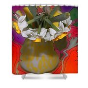 Colourful Flowers Shower Curtain