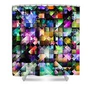 Colourful Fractal Jewels Shower Curtain