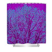 Colourful Silhouette Shower Curtain
