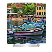 Colours Of Greece Shower Curtain