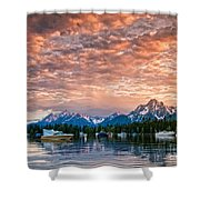 Colter Bay Sunset Shower Curtain