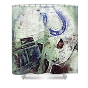 Colts Player Helmet Abstract Shower Curtain