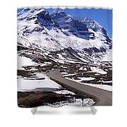 Columbia Icefields, Alberta - Panorama Shower Curtain