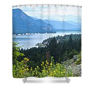 Columbia Lake Which Is Source Of The Columbia River-bc  Shower Curtain