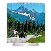 Columbia Mountains In Glacier Np-british Columbia Shower Curtain