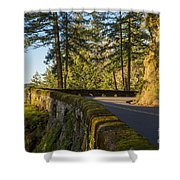 Columbia River Gorge Highway Shower Curtain