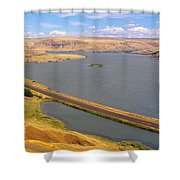 Columbia River In Oregon, Viewed Shower Curtain
