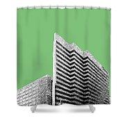 Columbia South Carolina Skyline 2 - Apple Shower Curtain