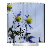 Columbines Shower Curtain