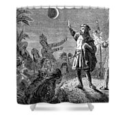 Columbus And The Lunar Eclipse, 1504 Shower Curtain