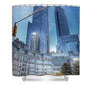 New York - Columbus Circle - Time Warner Center Shower Curtain