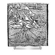 Columbus Hispaniola, 1492 Shower Curtain