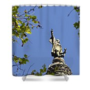 Columbus Monument - Barcelona Shower Curtain