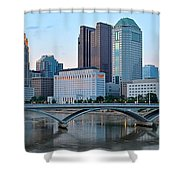 Columbus Panorama Shower Curtain
