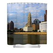 Columbus Skyline Shower Curtain