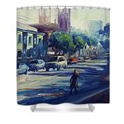 Columbus Street Shower Curtain