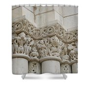 Column Relief Abbey Fontevraud  Shower Curtain