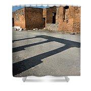 Column Shadows Forum At Pompeii Italy Shower Curtain