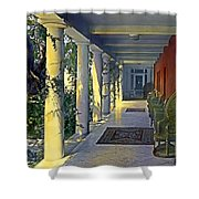Columns And Chairs Shower Curtain