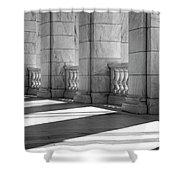 Columns And Shadows Shower Curtain