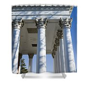 Columns Facing The Lawn Of The Rotunda Shower Curtain