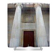 Columns Of Second Bank In Philadelphia Shower Curtain