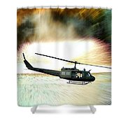 Combat Helicopter Shower Curtain