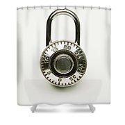 Combination Lock Shower Curtain