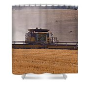 Combine Harvester And Cows Shower Curtain