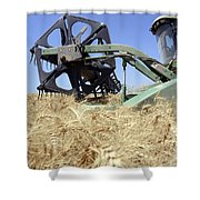 Combine Harvester  Shower Curtain