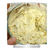 Combining Egg Salad Ingredients Shower Curtain