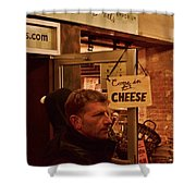 Come In For Cheese Shower Curtain