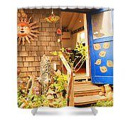 Come On In To A Mendocino Art Studio Shower Curtain