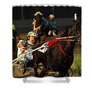 Horse Racing Come On Number 6 Shower Curtain
